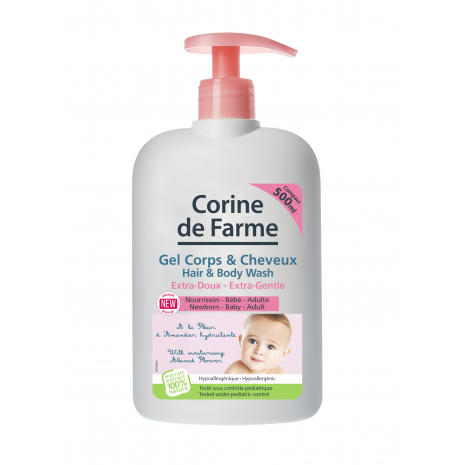 Extra-Gentle Hair & Body Wash with moisturising Almond Flower extract