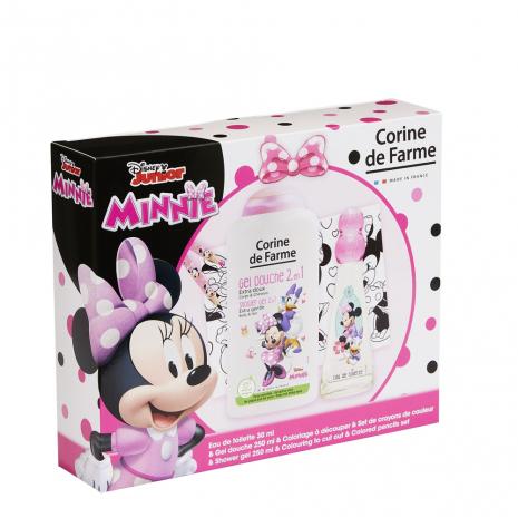 Corine de Farme - Disney Minnie  - Coffret Eau de toilette 30ml + Gel douche 250ml + set de crayons de couleur