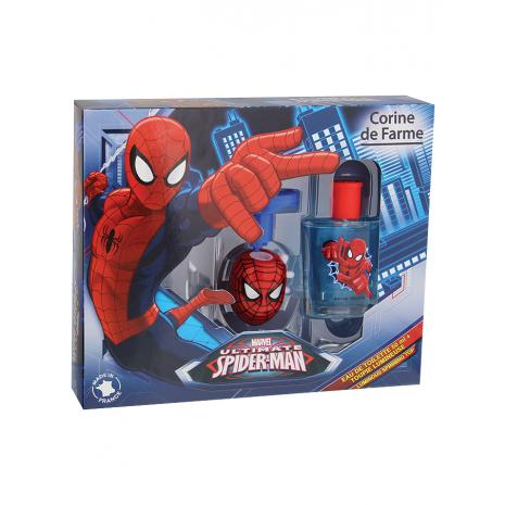 Coffret Eau de toilette Spiderman et sa toupie lumineuse (Corinedefarme)
