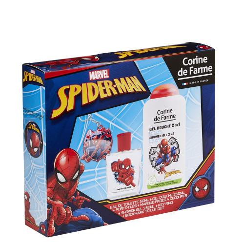 Corine de Farme - Marvel Spider-Man - Coffret Eau de toilette 50ml + Gel douche 250ml + porte clés - Peter Parker